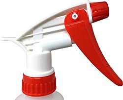 Empty Plastic Spray Bottle 32 Ounce, Professional Chemical Resistant with White-Red Sprayer for Chemical and Cleaning Solution, Heavy Duty, Adjustable Head Sprayer from Fine to Stream