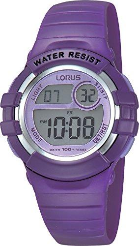 Lorus R2385HX9 - Reloj de pulsera niña, caucho, color morado: Amazon.es: Relojes