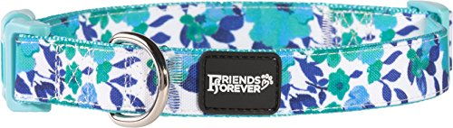 Image of Friends Forever Floral Dog Collar Dogs, Fashion Water-Paint Pattern Cute Puppy Collar, 14-20