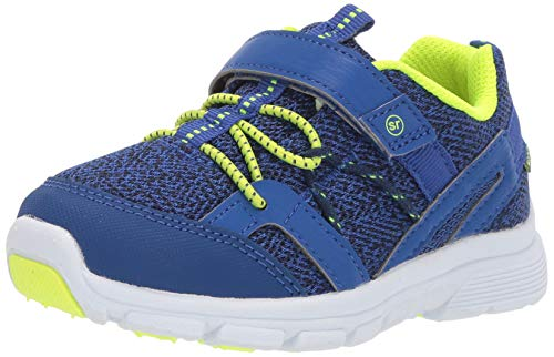 Stride Rite Ocean Girl's and Boy's Machine Washable Athletic Sneaker, Blue, 4 M US Toddler
