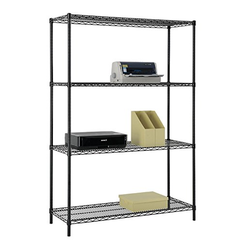 4-Tier Garage Home Office Storage Powder Coated Wire Shelving Unit Excel NSF Certified 4 Tiered Shelving Unit (Home Depot Shelving compare prices)