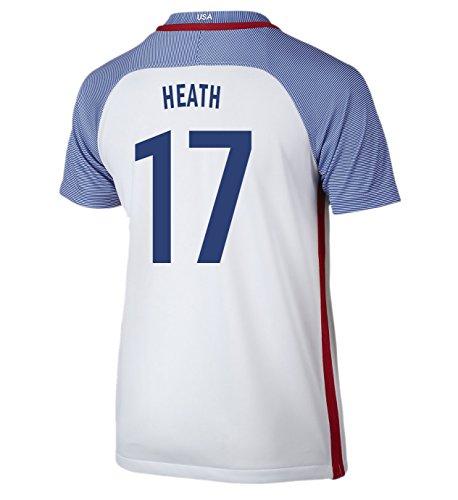 (Nike Heath #17 USA Home Soccer Jersey Rio 2016 Olympics Youth. (YXL) White)