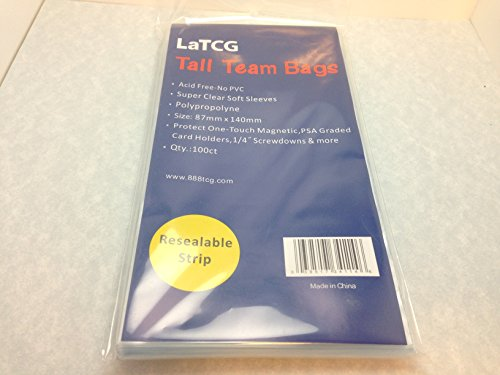 - LaTCG 100 Tall Team Bags/PSA Graded/Ultra.Pro One-Touch Magnetic Holder Sleeves