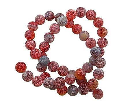 8 mm Piedras preciosas de 6 mm piedra de /ágata esmerilada piedra natural redonda Blanco 10 mm piedras de /ágata oxidadas 6mm 18St/ück piedra semipreciosa