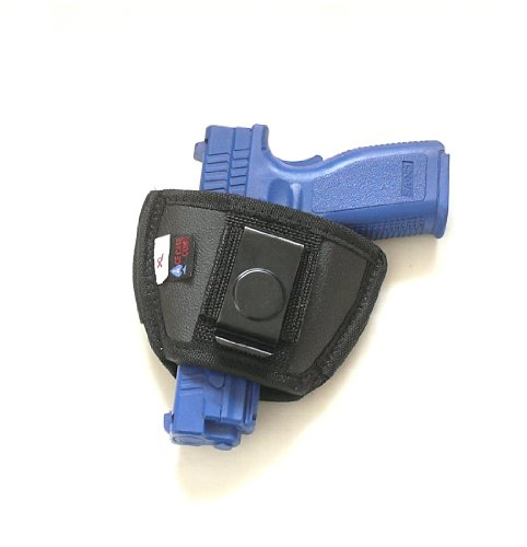 Inside The Pants or Small of The Back Concealed Carry Clip Pistol Holster for Medium & Large Frame Semi-autos. Fits Sig Sauer, Colt 1911, Beretta 92F, Ruger, Glock and S&Ws from Made for Shark GunLeather by Explorer Tactical
