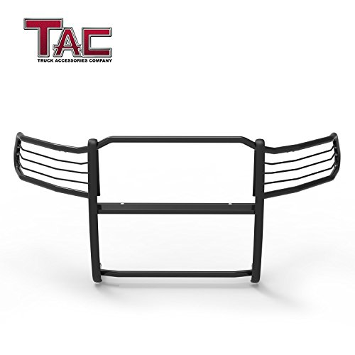 TAC Grill Guard Fit 2009-2018 Dodge Ram 1500 (Will interfere w/sensors if equipped) (Excl. Rebel Trim) Pickup Truck Black Front Bumper Brush Nudge Push Bull ()