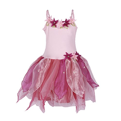 SHU-SHI Tulip Fairy Princess Costume Dress Up and Play Girls Toddlers Kids Pink