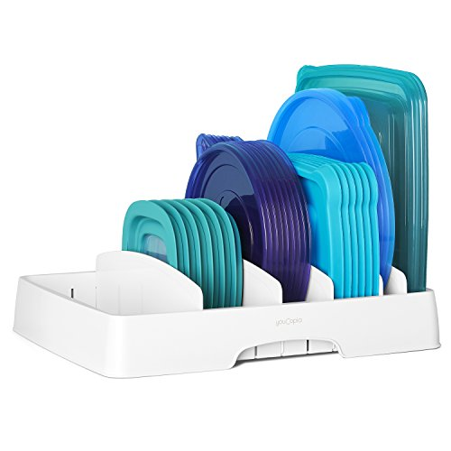 AMAZON'S CHOICE TOP RATED FOOD CONTAINER LID ORGANIZER!