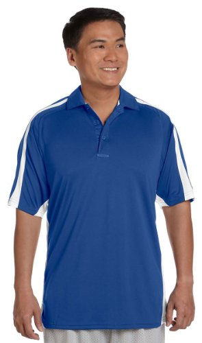 Russell Athletic Mens Team Game Day Polo S92CFM -Royal/White 3XL