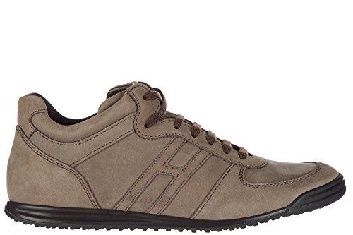 Hogan Rebel Uomo Hogan Scarpe Marrone Scarpe Sneakers in Rebel Pelle Sneakers Nuove rF5rqw