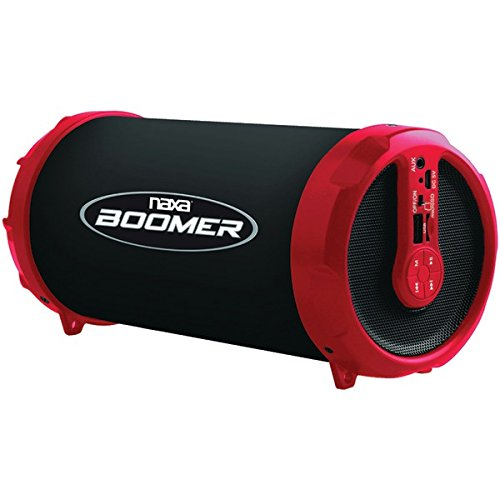 NAXA NAS-3071 RED BOOMER Portable Bluetooth Speaker