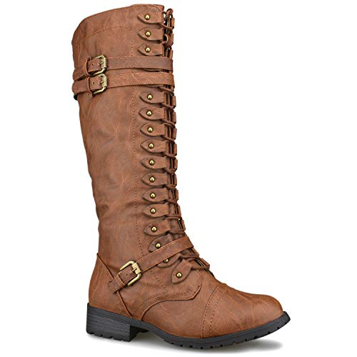 Premier Standard - Women's Lace-Up Strappy Knee High