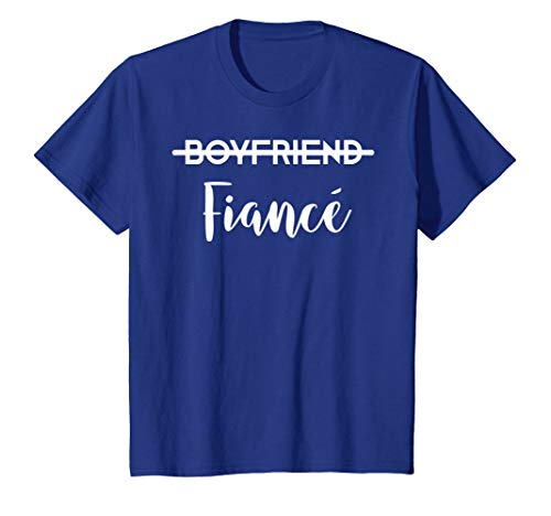 Boyfriend Fiance T-Shirt Engagement Tee Engaged Couples Gift