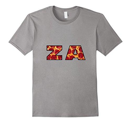 Mens ZA Pizza t shirt - funny pepperoni cheese tee Medium - Za Man