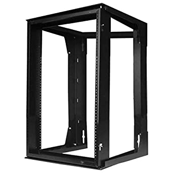 Amazon Com Hubbell Hpwwmr24 Wall Mount Network Rack Swing Frame 12u 24 Height X 18 Deep Industrial Scientific