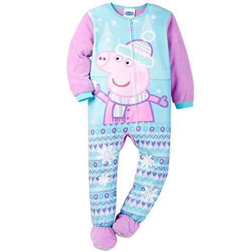 Komar Kids Girls' Peppa Pig Blanket Sleeper, Blue, 2T Graphic Knit Blanket