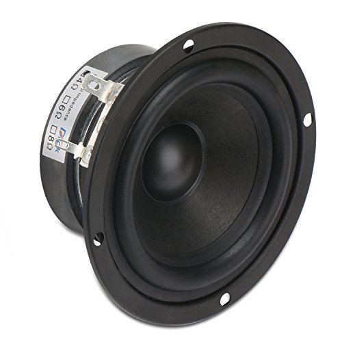DROK 3 Inch Round 4 Ohm HiFi Full-Range Speaker 15W Tweeter Speakers External Magnetic Strong Interference Immunity for DIY Tweeter Speakers for Car