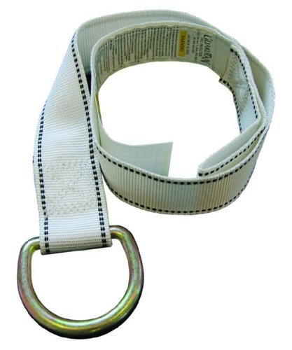 Guardian Fall Protection 10705 3-Foot White Lanyard Strap with (Cross Arm Anchor Strap)