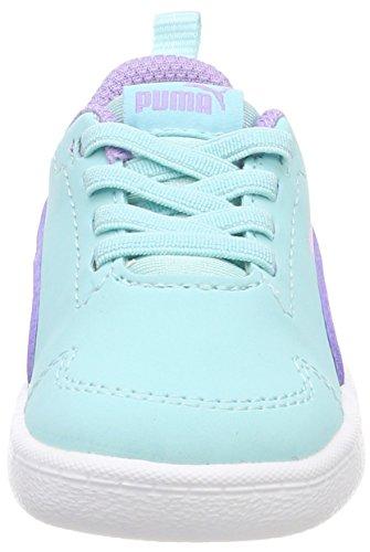 Puma Courtflex Inf, Zapatillas Unisex Niños Azul (Island Paradise-purple Rose)