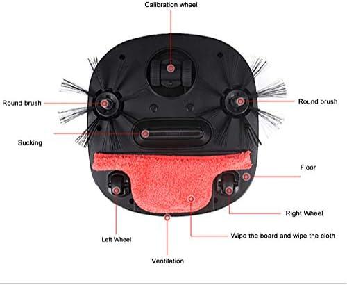 WXF Robot De Nettoyage Électrique, Triple Charge Balai De Nettoyage Intelligente 3200PA Robot Balayeuse Aspirante Automatique De La Poussière De Filtre