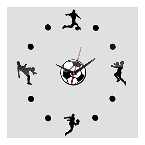 Acrylic Creative Wall Clock DIY Soccer by SJ