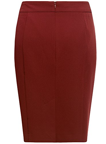 Oodji 3700n Rouge Basique Jupe Femme Droite Coupe Collection R0wrRqP