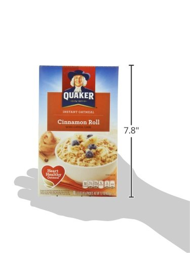 Amazon.com: Quaker Instant Oatmeal Cinnamon Roll, 10-Count, 15.1 oz Boxes(Pack of 4): Oatmeal Breakfast Cereals
