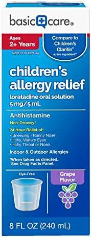 Basic Care Childrens Loratadine Antihistamine