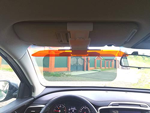 Car Sun Visor Extender Sun Blocker HD 2 in 1 Day and Night Vision Anti-Glare Driving Visor Anti Glare Windshield Visor Blocker Anti-Dazzle Car Visor Universal 12,7x4,7 inch Size Fits Cars Trucks SUVs