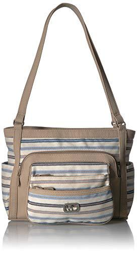MultiSac Omega Tote Shoulder Bag, stripe blue/chino