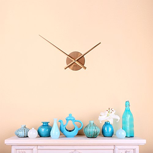 WALPLUS Designer Flexi Minimal Wall Clock Copper -