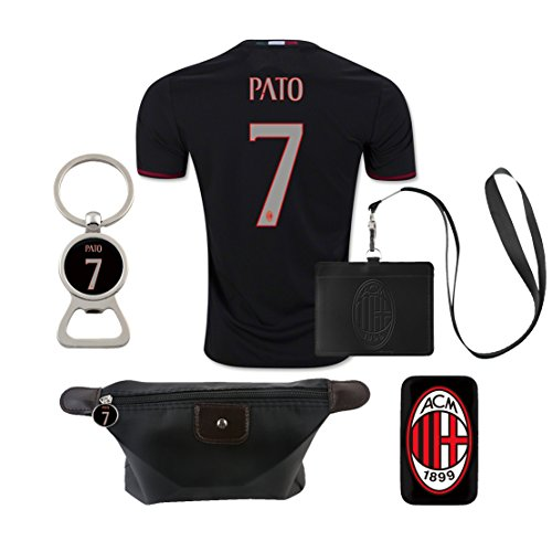 #7 Pato (6 in 1 Combo) A.C. Milan Home Match Adult Soccer Jersey 2016-17 - Pato Ac Milan