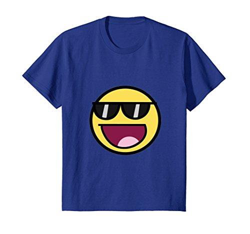 Kids Cool Epic Face Sunglasses Graphic T-Shirt Shades Funny Meme 12 Royal - Cool Sunglasses Meme