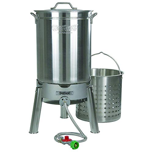 Bayou Classic KDS-144 44-Quart Stainless Steel Cooker Kit -