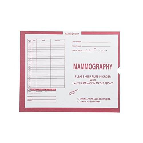 Mammography, Pink #190 - Category Insert Jackets, System II, Open End - 14-1/4'' x 17-1/2'' (Carton of 250)