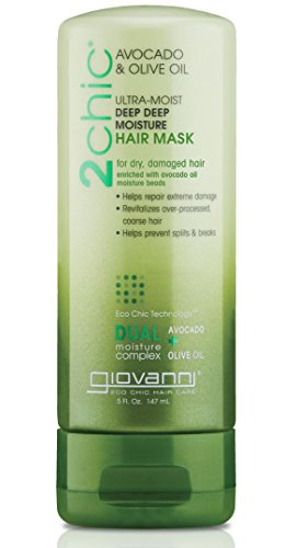 (GIOVANNI COSMETICS 2Chic Avocado & Olive Oil Ultra-Moist Hair Mask - Moisture and Nourishment For Dry And Damaged Hair (5 Fluid Ounce - 147 Milliliter))