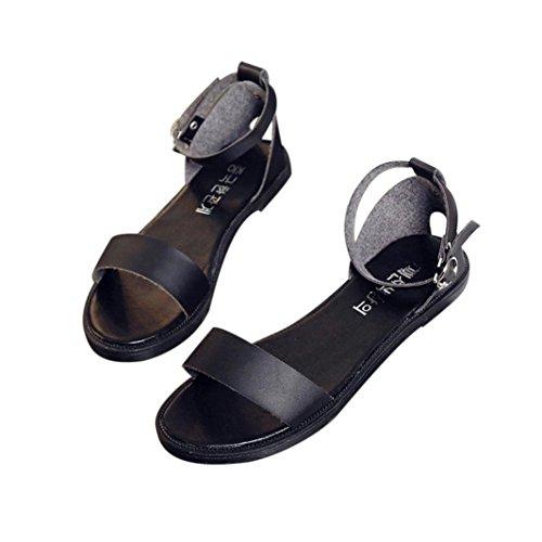 Deesee (tm) Zomer Sandalen Dames Platte Mode Sandalen Comfortabele Dames Schoenen Zwart