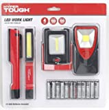 Hyper Tough LED Work Light- 4 pack - w/ 12 AAA batteries included