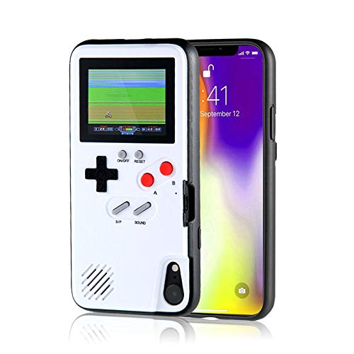 KOBWA Gameboy Case for iPhone,Retro 3D Gameboy Design Style Silicone Cover Case with 36 Small Games,Color Screen,Video Game Cover Case for iPhone X/MAX,iPhone8/8 Plus,iPhone 7/7 Plus,iPhone 6/6Plus (Best Games In Iphone 7 Plus)