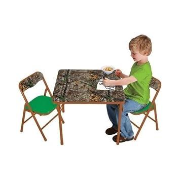 Amazon.com: Árbol Real camuflaje muebles para niños mesa y ...