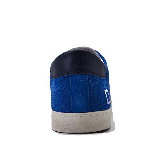 D.a.t.e. Date Hill Low Perforated Sneakers Herren Bianco/blu