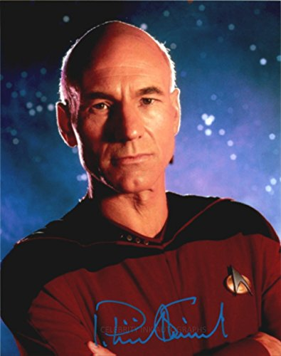 PATRICK STEWART as Captain Jean-Luc Picard - Star Trek: TNG GENUINE AUTOGRAPH