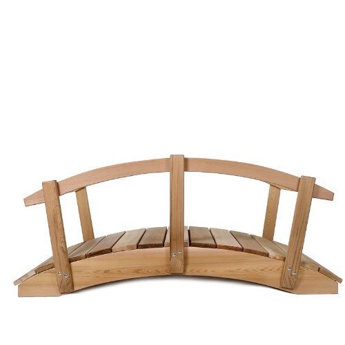 All Things Cedar 8' Garden Bridge with Hand Rails by All Things Cedar (Image #4)'