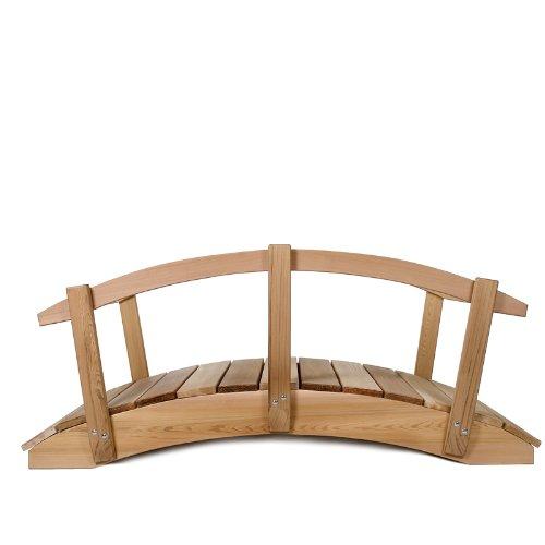 All Things Cedar 8' Garden Bridge with Hand Rails by All Things Cedar (Image #3)