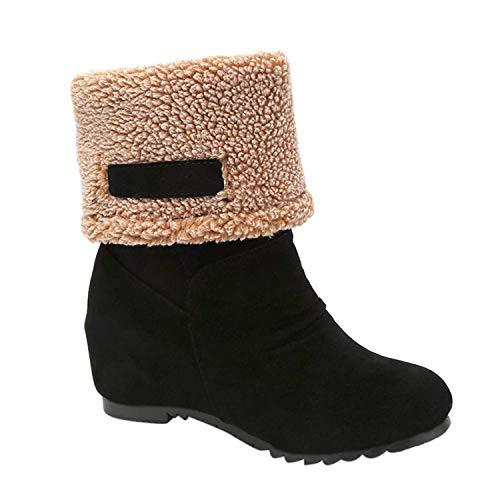 - Vovotrade Women's Snow Boots Winter Ankle Boots Women Shoes Boots Fashion Shoes (US:7.5, Black)