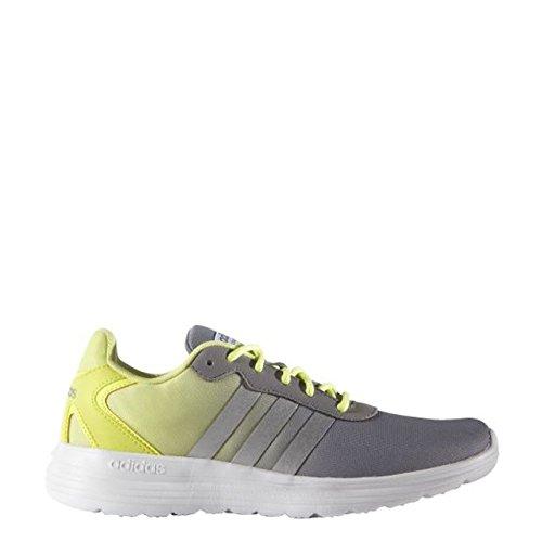 adidas Cloudfoam Speed W, Chaussures de Sport Femme, Rose Gris / Argenté / Jaune (Gris / Plamat / Amahel)