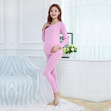LLPXCC respirable suave Ropa interior térmica womens invierno Conjuntos térmicos Las mujeres embarazadas. Sweet Spot