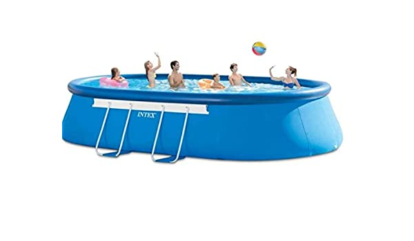 Intex 28194 ovalado Quick Up Piscina 610 x 366 x 122 cm: Amazon.es ...