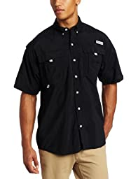 Columbia Men\'s Bahama II Short Sleeve Shirt (Large, Black)
