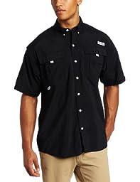 Columbia Men\'s Bahama II Short Sleeve Shirt (Large, Black)